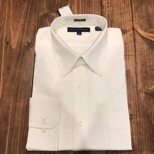 White button down men's dress shirt